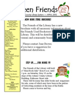 FOL Newsletter April 2012