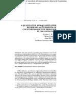 A Qualitative and Quantitative Review of Antecedent of CBW in Organization_vivian,Wing,Jane