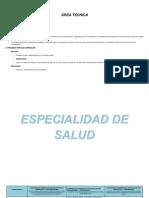 Plan de Estudios de Area Tecnica