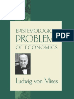Epistemological Problems of Economics Ludwig Von Mises