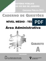 Tecnico Area Administrativa Prova A