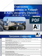 «Doing business in Finland» 2012