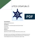 Simple Picot Snowflake