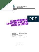 monografía alteraciones opticas y de la visión