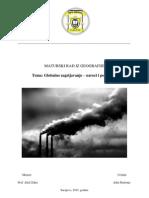 Maturski - Globalno Zagrijavanje - Uzroci i Posljedice
