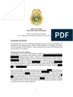 FDLE investigative summary