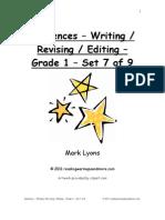Demo Sentences Writing Revising Editing Grade Set Of