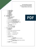 Exec Minutes 10-22-12