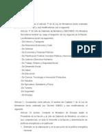 Creacion Ministerio Energia - Proyecto de Ley