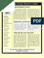 Newsletter for Dec 2012