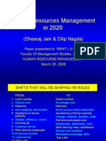 Human Resources Management in 2020.