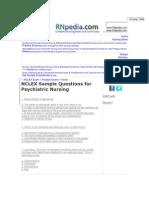 Questions Nclex Pmhn