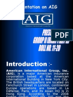 Presentation on AIG