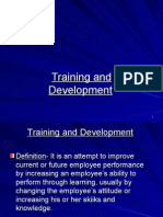 Training, Development, Socialization