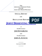 Joint Dissenting Views for COP Regulatory Reform Report