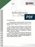 Judicialização da Saúde Pública no Brasil