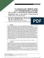 examenul radiologic versus apex locator in determinarea lungimii de lucru a canalelor radiculare