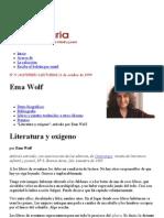 Wolf Literatura y Oxigeno