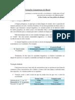 Variações Linguísticas do Brasil