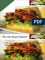 Brand Mnagement Subway Sandwiches
