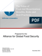 The Value of Food Aid Monetization