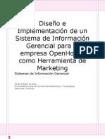 Diseño e Implementación de un Sistema de Información Gerencial para la Empresa HopenHouse como Herramienta de Marketing