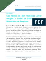 Cambio en la línea 7 debido a las fiestas de San Francisco Javier