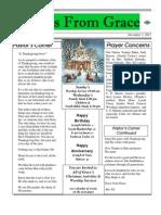 Grace Newsletter for December 2012