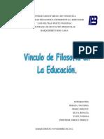 Informe Filosofia de La Educ.