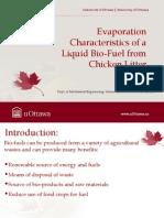 Evaporation Characteristics of a Liquid Bio-Fuel