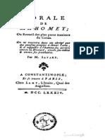 Morale de Mahomet, Claude-Etienne Savary, 1784