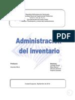 Administracion Del Inventario