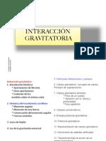 Interacción gravitatoria. Física 2º bachillerato