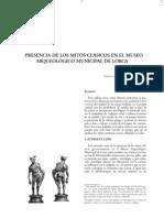 PRESENCIA DE LOS MITOS CLÁSICOS EN EL MUSEO ARQUEOLÓGICO MUNICIPAL DE LORCA