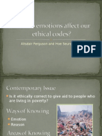 Emotions and Ethical Codes
