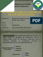 Propiedades Físicas y Químicas de los Fertilizantes