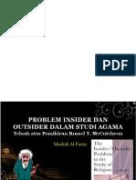 Problem Insider Dan Outsider Dalam Studi Agama