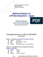 National Status on LFR Development in Japan 1 - Takahashi