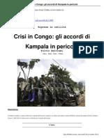 Crisi in Congo Gli Accordi Di Kampala in Pericolo