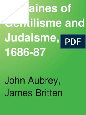 Remaines of Gentilisme and Judaisme 1686 | Bracket | Religion And Belief