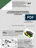 Presentación visual PERTINENCIA SOCIAL