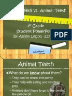 Human Teeth vs. Animal Teeth PPT (Student Version)