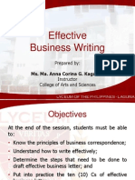 Effective Business Writing
