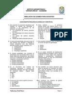 SIMULACRO Nº 01 - TEORIAS DEL APRENDIZAJE