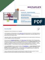 Kovair Newsletter -Nov 2012