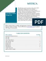 OTC Drug List