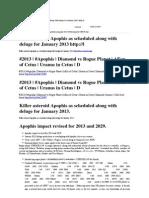 Apophis 2013 Killer Asteroid