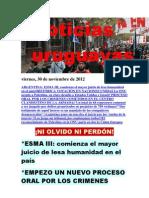 Noticias Uruguayas viernes 30 de noviembre del 2012