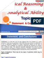 Logical Reasoning and Analytical Ability Statement Conclusions