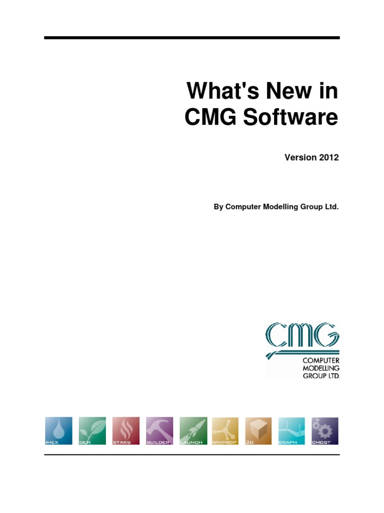 New Features in CMG 2012 Software | Mathematical Optimization | Scheduling  (Computing)